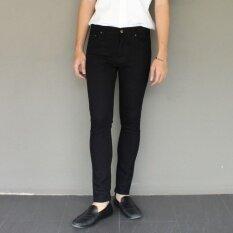 Golden Zebra Jeans กางเกงยีนส์สีดำขาเดฟผ้ายืด ใน ไทย