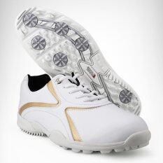 ซื้อ Golf Shoe By Pgm Model Xz016 White Gold For Man Size Eu 35 Eu 45 Pgm ออนไลน์