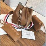ส่วนลด Good Fashionเซ็ต 3 ใบ กระเป๋าสะพายข้าง กระเป๋าสตางค์ผู้หญิง กระเป๋าแฟชั่น กระเป๋าถือผู้หญิง รุ่น Mz 03