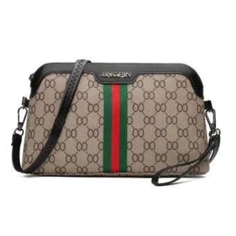 LOVE Fashionกระเป๋าสะพายข้าง กระเป๋าเป้ผ้าไนลอน c98 -(Black/Red/White)