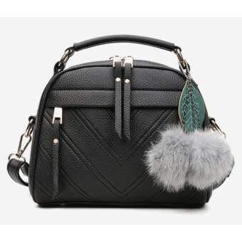 Good Fashionกระเป๋า กระเป๋าสะพาย กระเป๋าสะพายสำหรับผู้หญิง No.b001 - Black