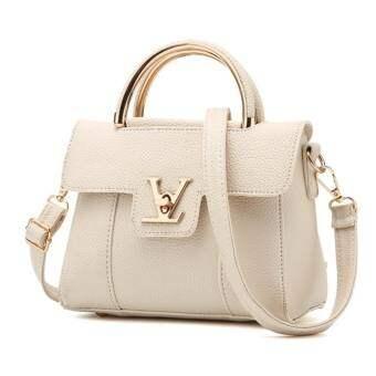 Good Fashionกระเป๋าสะพายข้าง กระเป๋าเป้ผ้าไนลอน V2- (White)