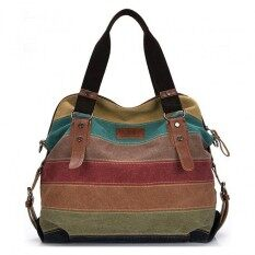 Good Fashionbig Size: 37x36x15cm กระเป๋าแฟชั่น กระเป๋า Big Canvas Bag Rainbow Fashion Women Bag.