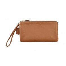 ขาย Gpl Coach Double Zip Wallet In Pebble Leather F54056 Ship From Usa Intl เป็นต้นฉบับ