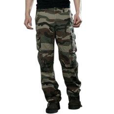 โปรโมชั่น Gracefulvara เย็นสบายลายพรางทหารบกบุรุษแฟชั่นกางเกงทำงานกางเกงมีกระเป๋ากางเกงกางเกงทหารรบ ใน จีน