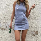 ขาย ซื้อ Gracefulvara S*xy Women Sleeveless Party Evening Cocktail Summer Beach Boho Short Mini Hoodie Dress ใน จีน