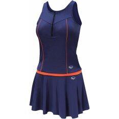 ราคา Grand Sport ชุดว่ายน้ำหญิงแบบกระโปรง 2 ท่อน สีกรม ส้ม ใหม่ล่าสุด