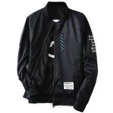 ส่วนลด Grandwish ชายสองด้านสวมเสื้อแจ็คเก็ต Bomber N เสื้อ M 5Xl สีดำ สนามบินนานาชาติ Unbranded Generic จีน