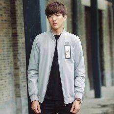ซื้อ Grandwish Men Fashion Men Jacket Men Face Pattern Lightweight Coat M 3Xl Light Grey Intl ถูก ใน จีน