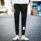 ราคา เสื้อยืดลาย Grandwish ผู้ชายออกแบบสบายๆกางเกงเอวยางยืดกางเกงกีฬา M 3Xl สีดำ จีน