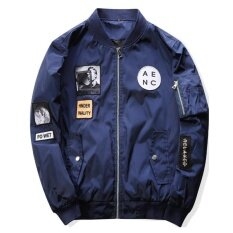 ขาย Grandwish Men พิมพ์แจ็คเก็ตการพิมพ์กราฟิก Slim เสื้อแจ็คเก็ตเครื่องบินทิ้งระเบิด M 4Xl Navy ถูก