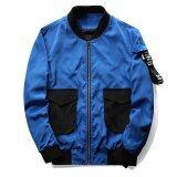 ขาย Grandwish Men Letter Printing Jackets With Big Pocket Slim Bomber Jackets M 4Xl Blue Intl Unbranded Generic ถูก