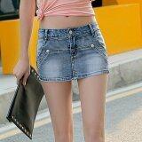 ขาย Grandwish Women False Two Denim Skirts Pants Denim Shorts Slim S 3Xl Grey ใน จีน