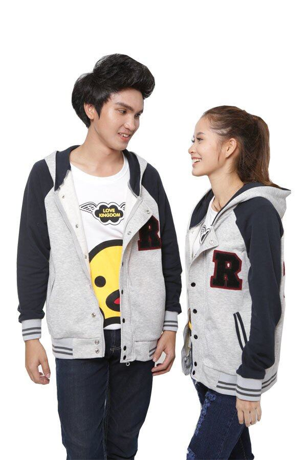 Gring Fashion Couple Sweater WW-0003cS (Gray/Navy)
