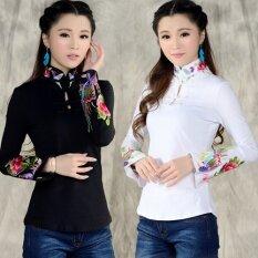 ขาย จีนลมเสื้อยืดลมชาติเต้นรำสแควร์ใหม่คอสูง สีดำ เป็นต้นฉบับ