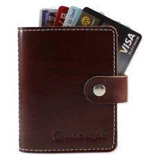 ขาย ซื้อ Gvinc กระเป๋าใส่บัตรหนังแท้ Vermouth Card Holder สีช็อคโกแล็ต ใน กรุงเทพมหานคร