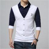 ขาย เสื้อยืดฤดูใบไม้ผลิใหม่แขนยาว H003 สีขาว ถูก ใน ฮ่องกง
