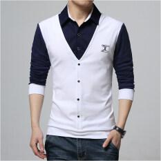 ราคา เสื้อยืดฤดูใบไม้ผลิใหม่แขนยาว H003 สีขาว Unbranded Generic ฮ่องกง