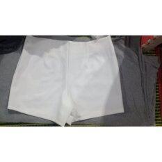 ซื้อ Hanayourstyle กางเกงขาสั้น เอวสูง ผ้าฮานาโกะ ไซต์ Xxl สีขาว
