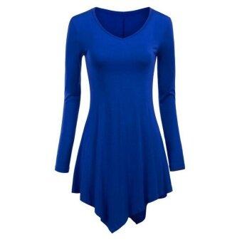 ผ้าพันคอถักผ้าคลุมไหล่แขนยาวเสื้อ (สีฟ้า)