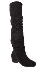 ซื้อ ได้แก่ เฉียวสวมรองเท้าบู๊ตแบน สีดำ ระหว่างประเทศ ออนไลน์ จีน