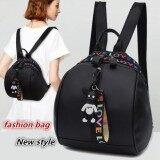 ราคา Hannah Fashion กระเป๋า กระเป๋าเป้ กระเป๋าสะพายหลัง Backpack Black ใน ไทย