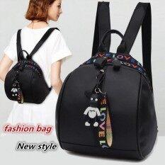 ส่วนลด Hannah Fashion กระเป๋า กระเป๋าเป้ กระเป๋าสะพายหลัง Backpack Black