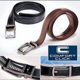 ขาย Hanyu Men Automatic Buckle Leather Strap Belt Waist Band With Comfort Click Belt Black Intl ออนไลน์