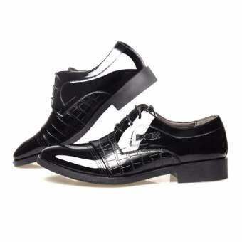 Bullock Leather British Male Pointed Business Shoes Brown Intl In Product Galerie. Source ... ราคา Hanyu ผู้ชายของจระเข้ชี้รองเท้าหนังธุรกิจ (สีดำ)