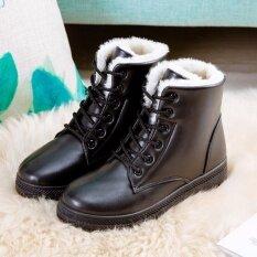ความคิดเห็น Hanyu Women S รองเท้าบูท Snow Boots Martin Boots รองเท้ากันแดด Ladis สีดำขนาด 35