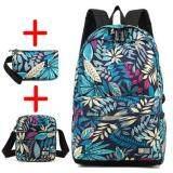 ขาย Haotom Cotton Printing Bag Male Boy Fashion Backpack Female G*rl Junior High Sch**l College Student Knapsack Leisure Canvas Travel S Size Intl ออนไลน์
