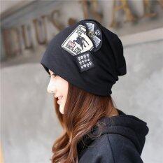 ซื้อ Haotom Women Sleeve Caps Head Hats Turban Confinement Cap For Woman Lady S Head Wear Cloth Accessory Black Intl ออนไลน์