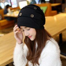ขาย Haotom Women Sleeve Caps Head Hats Turban Confinement Cap For Woman Lady S Head Wear Cloth Accessory Black Intl Haotom เป็นต้นฉบับ