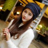 ขาย ซื้อ Haotom Women Sleeve Caps Head Hats Turban Confinement Cap For Woman Lady S Head Wear Cloth Accessory Blue Intl จีน