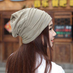Haotom Women Sleeve Caps Head Hats Turban Confinement Cap For Woman Lady S Head Wear Cloth Accessory Khaki Intl ถูก