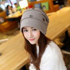 ราคา Haotom Women Sleeve Caps Head Hats Turban Confinement Cap For Woman Lady S Head Wear Cloth Accessory Khaki Intl เป็นต้นฉบับ Haotom