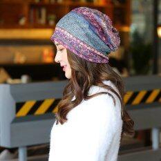 ทบทวน Haotom Women Sleeve Caps Head Hats Turban Confinement Cap For Woman Lady S Head Wear Cloth Accessory Purple Intl Haotom