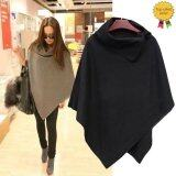 โปรโมชั่น Happycat 2016 New Women Fashion Cape Poncho Cloak Coat Tops Jackets Outwear Overcoats Gray Black Dark Gray L Unbranded Generic ใหม่ล่าสุด