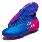 Hara Sports รองเท้าฟุตบอล รุ่น F88 สีน้ำเงิน ชมพู เป็นต้นฉบับ