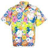 ขาย Hawaiian Shirt Cotton เสื้อเชิ้ตฮาวาย Colorful Flower Leisure Beach Holiday รุ่น Cotton Hw908S Multi Color ผู้ค้าส่ง