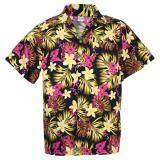 ราคา Hawaiian Shirt Cotton เสื้อเชิ้ตฮาวาย Elegance Plumeria Frangipani Leisure Beach รุ่น Cotton Hw910P Black Unbranded Generic ใหม่