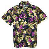 ราคา Hawaiian Shirt Cotton เสื้อเชิ้ตฮาวาย Elegance Plumeria Frangipani Leisure Beach รุ่น Cotton Hw910V Black Unbranded Generic เป็นต้นฉบับ