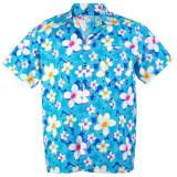 ราคา Hawaiian Shirt Cotton เสื้อเชิ้ตฮาวาย Vivid Plumeria Frangipani Beach รุ่น Cotton Hw907C Blue กรุงเทพมหานคร