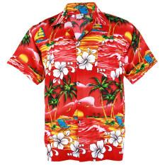 ส่วนลด Hawaiian Shirt เสื้อเชิ้ตฮาวาย Hibiscus Chaba Isle Coconut Beach รุ่น Hw264R Red