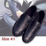ขาย Hayashi รองเท้าหนังสไตล์อังกฤษของชายเกาหลีรองเท้ารองเท้าขับรถ หุ้มข้อได้ เหยียบส้นได้ สีดำ Size 41 ถูก กรุงเทพมหานคร