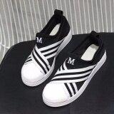 ขาย ซื้อ Hayashi รองเท้าผ้าใบผู้หญิง Superstar Slip On Hys 004 สีดำ