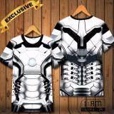 ขาย เสื้อยืด แฟชั่นชาย คอกลม แบบสบายๆ แนวกีฬา แขนสั้น Hd Color ลาย Iron Man T Shirt Men S Crew Neck Causal Sports Short Sleeve Top Tee