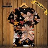 ซื้อ เสื้อยืด แฟชั่นชาย คอกลม แบบสบายๆ แนวกีฬา แขนสั้น Hd Color ลาย Tropical Flowers T Shirt Men S Crew Neck Causal Sports Short Sleeve Top Tee ถูก