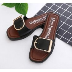 Hd Shopรองเท้าแตะลำลอง รองเท้าแฟชั่น แบบสวม สายปรับได้ สีดำ ใน กรุงเทพมหานคร
