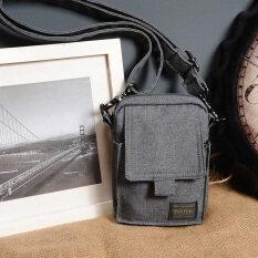 ส่วนลด สินค้า กระเป๋าสะพายข้างสำหรับใส่มือถือของผู้ชาย ยี่ห้อHead Porter สีเทาเข้ม สีเทาเข้ม